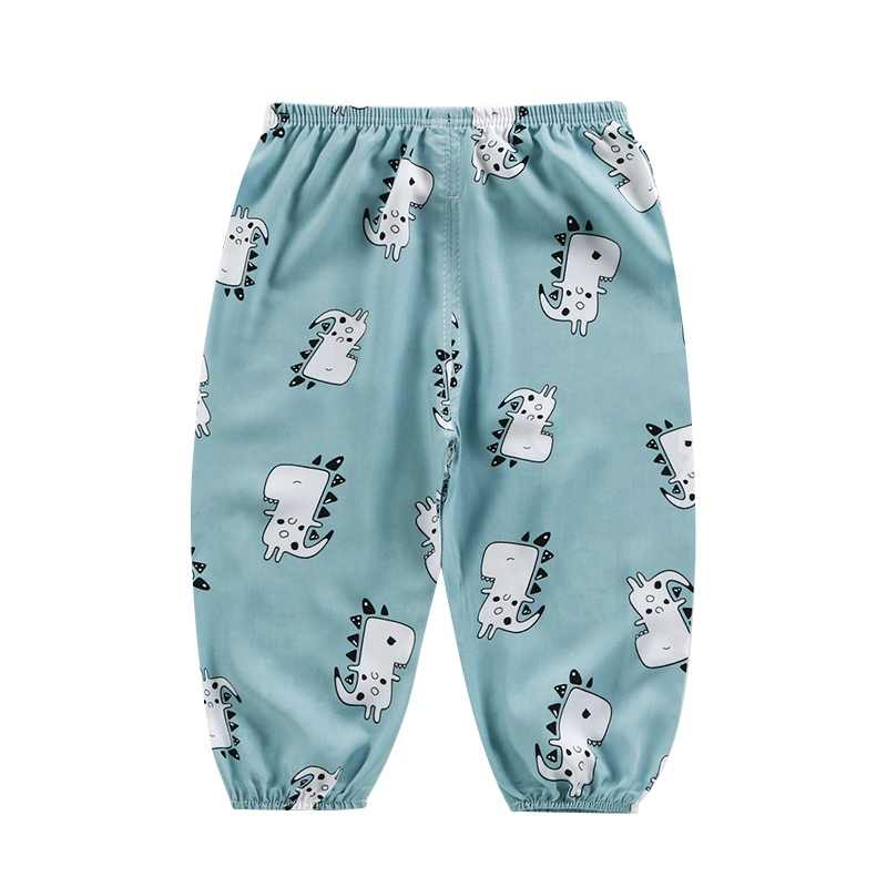 Children Cotton Linen Mosquito Repellent Pants Baby Summer Air Conditioner Pants for Baby Boys Girls 100-Type A Kids Lantern Pants