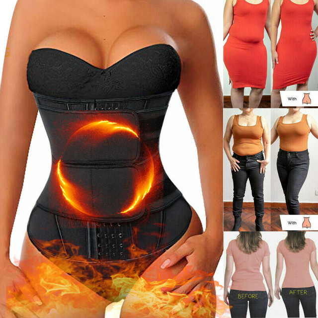 Black Slimming Belt Waist Trainer Corset Sauna Sweat Faja Sport Girdles Shaper Lumbar Trimmer Straps Modeling Women Shapewear 1