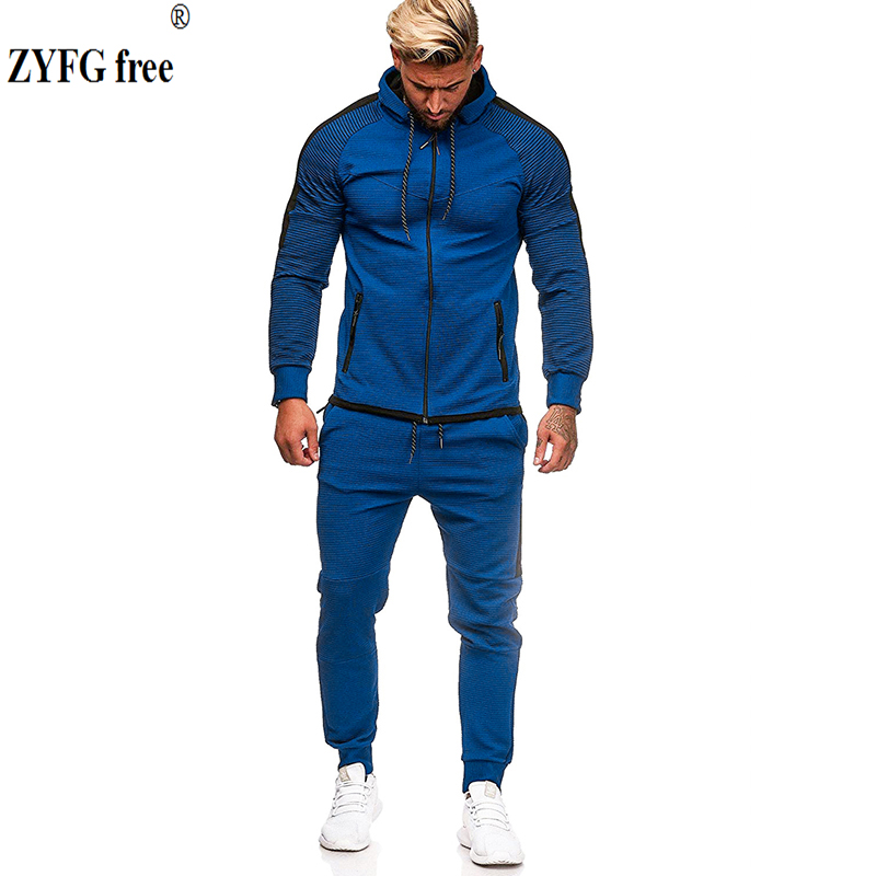 Fashion Autumn Men Sweatshirts Sets Stitching Casual Loose Hoodies Pants Sets Comfortable Outdoor Sports Sets Plus Size