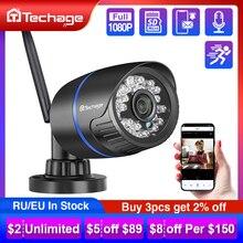 Techage 1080P 무선 Wifi IP 사진기 TF 카드 오디오 기록 2MP IR Cut 야간 시계 P2P Onvif CCTV 옥외 영상 감시