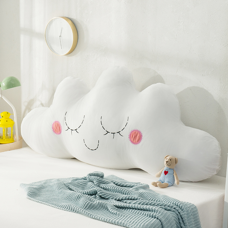 Maiden Heart Cotton Embroidered Cloud Large Backrest Tatami Sofa Pillow Children's Room Can Be Dismantled And Washed