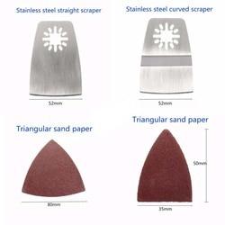 100 sztuk zestaw noży oscylacyjnych piła narzędzie wielofunkcyjne cięcie drewna dla BOSCH MAKITA w Części do narzędzi od Narzędzia na