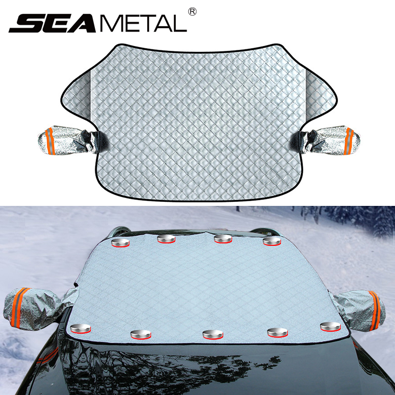 Car Exterior Protection Snow Blocked Car Snow Cover Ice Protector Visor Sun Shade Front Windshield Cover Block Shields for Cars