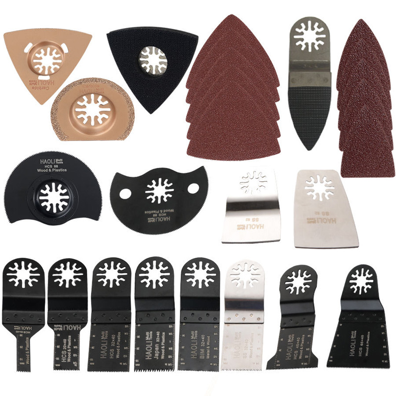 66pcs Oscillating Multi Tool Electric Tools Accessories For Fein Bosch Saws Blade Renovator Power Tools Saw Blades