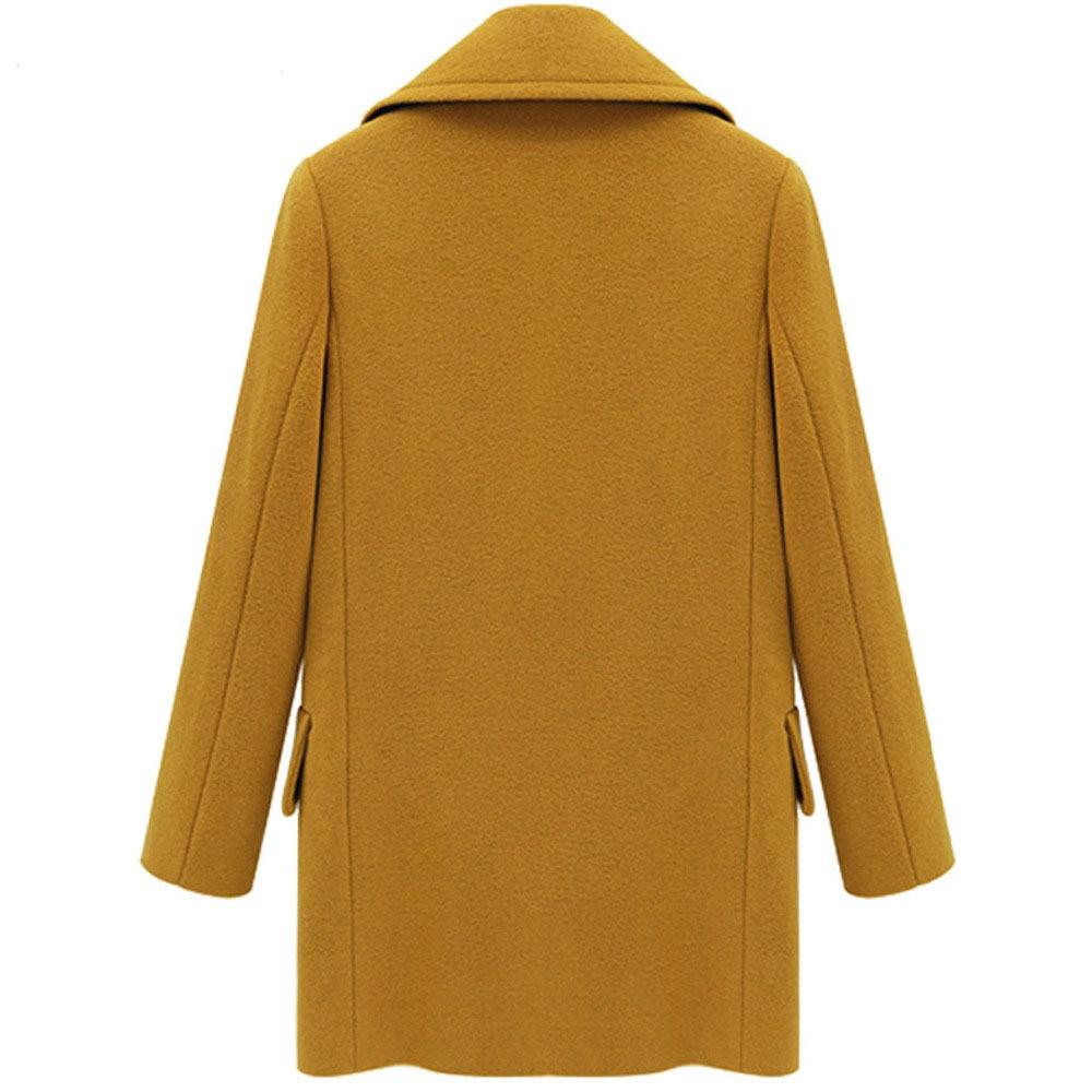 Hot Sell Plus Size Women Woolen Coat Large Medium Length Windbreaker Outerwear Elegant Streetwear Basic Female Overcoat