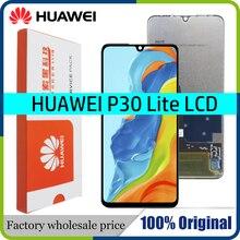 """6.15 """"מקורי LCD עם מסגרת עבור HUAWEI P30 לייט LCD תצוגת מסך עבור HUAWEI P30 לייט מסך נובה 4e MAR LX1 LX2 AL01"""