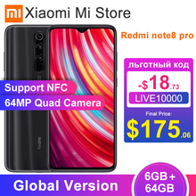 In Stock Global Version Xiaomi Redmi Note 8 Pro 6GB 64GB Smartphone 64MP Cameras 6 53 #8243 Helio G90T Octa Core 4500mAh Battery NFC cheap Not Detachable Android Fingerprint Recognition other ≈64MP Quick Charge 3 0 Smart Phones Capacitive Screen English Russian
