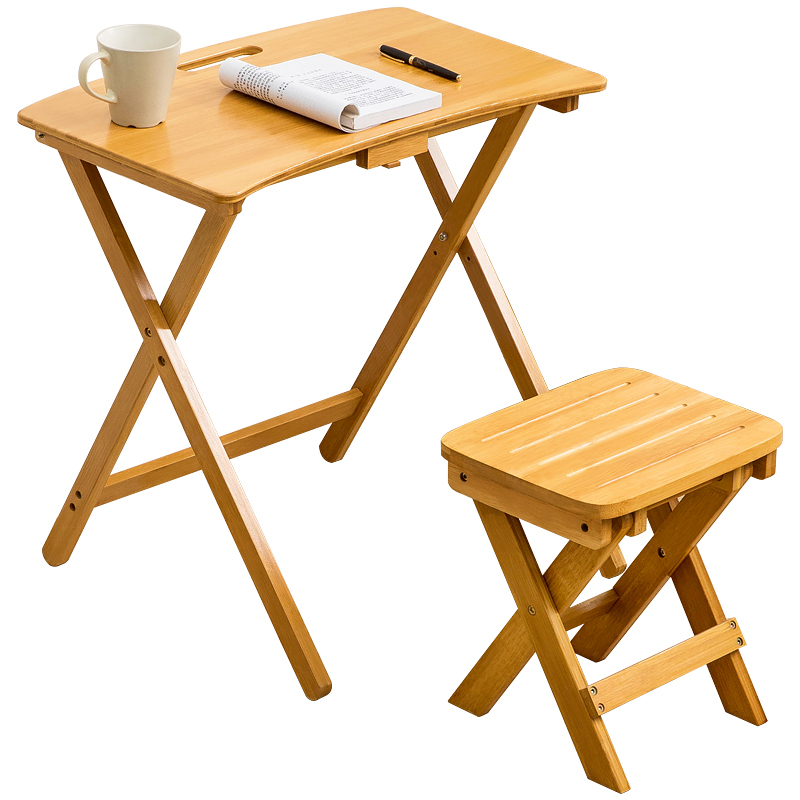 Multifunctional folding desk modern simple solid wood computer desk children's learning writing desk
