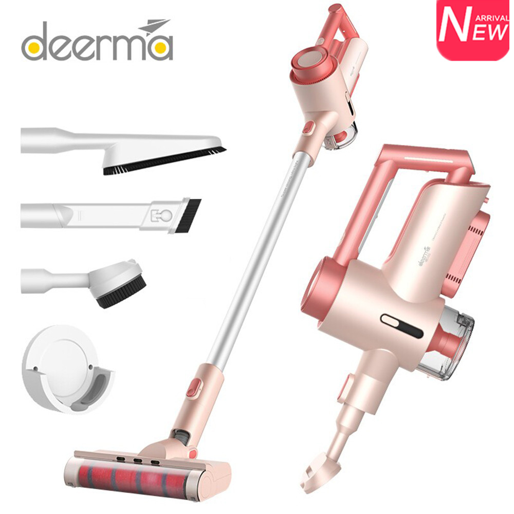 Deerma VC15 Cordless Handheld Vacuum Cleaner 2 In 1 2200mAh 0.6L Large Capacity Strong Suction Aspirator With 3 Combination Tool|Vacuum Cleaners| - AliExpress