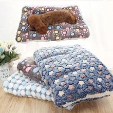Dog Blanket Mattress Pet-Sofa-Cushion Pet-Bed Cat Warm Foldable Small Soft Winter And