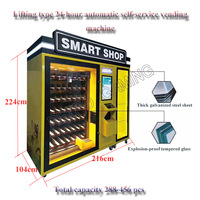 Quick Return Automatic 24 hour Self Service Vending Machine Unmanned Store Put Beverage Cigarettes Condom Snacks 456pcs Capacity