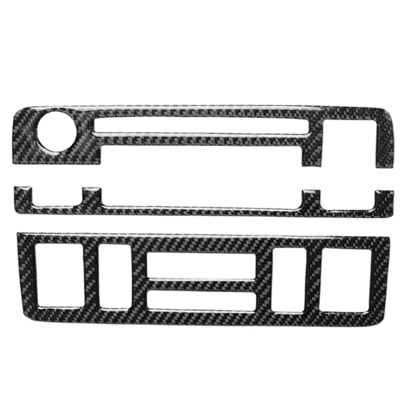for BMW E46 1998 2005 3 Series Carbon Fiber Central Control Panel Air Conditioning Volume Adjustment Frame Cover Trim Decoration|Styling Mouldings| |  - title=