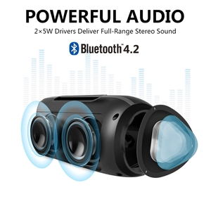 Image 3 - NBY Portable Bluetooth Speaker Wireless Stereo Loudspeaker Sound System Outdoor Waterproof Speaker 10W Music Surround