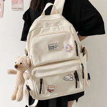 EnoPella Fashion Backpack Waterproof Nylon For Women Laptop Ladies Cute Female Rucksack Kawaii Student Men Black BookBag Mochila