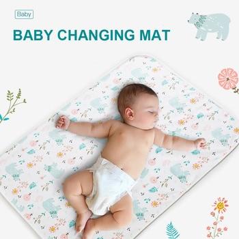 Reusable Baby Changing Mats Cover Baby Diaper Mattress Cotten Waterproof Changing Pats Flool Play Mat Bamboo PUL