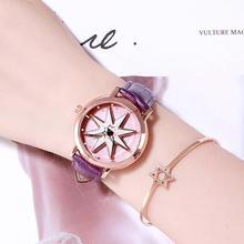 New Fashion Brand Watch Women Watches Quartz Exquisite Flower Clock Leather Strap Luxury Watches For Women Gift Relogio Feminino