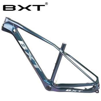 Rama MTB 27.5er pełne włókno węglowe UD błyszczący matowy rowery górskie rama BSA/PF30 160mm hamulec tarczowy 29er węgla rama rowerowa