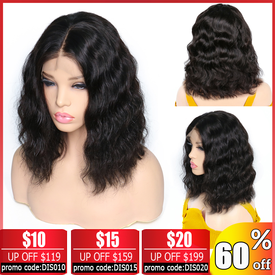 Brazilian Body Wave Wig 13x4 Lace Front Wig Bob Lace Front Wigs Short Lace Front Human Hair Wigs For Black Women Non-Remy