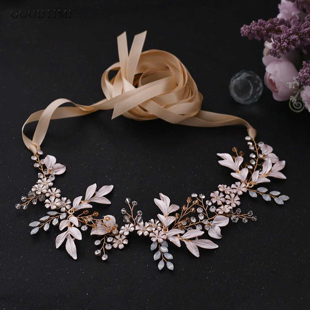 Fashion Women Belt Rhinestone Wedding Bridal  Belts For Wedding Dress Flower Pearl Belt For Girl Party Night Dress