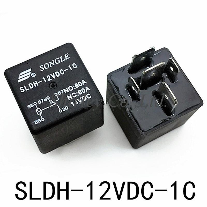 1PCS pieces SONGLE New Original SLDH-12VDC-1C Relays 5 Pins 60A14VDC H