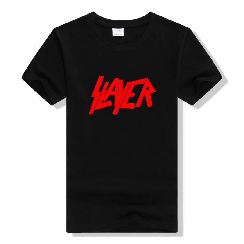 SLAYER Metal Band T Shirt Men/Women Summer 100% Cotton Tshirt Short Sleeve Black Tops T-shirts Rock Style T Shirts Hip Hop Tees