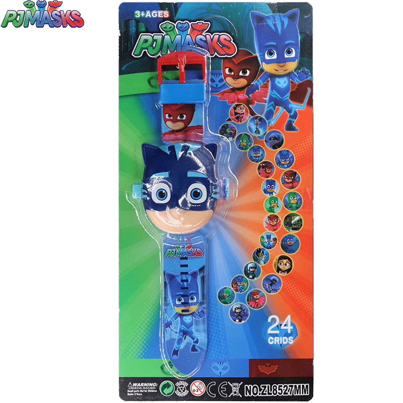PJ MASKS 3D Projection Cartoon Children Watches Anime Figure Educational Small Kids Boys Girls Clock Toys For Children