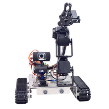EU Type Programmable Robot DIY Wifi+Bluetooth Stainless Steel Chassis Track Tank With Arm For Raspberry Pi 3B+(Standard Edition)