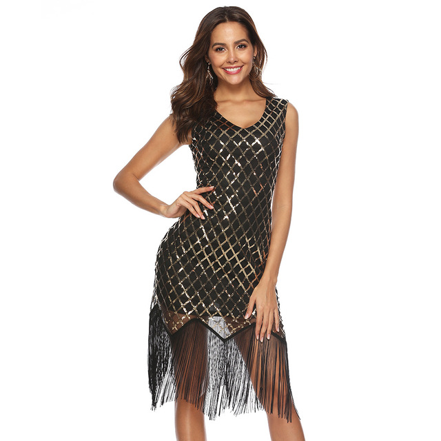 Blue flapper dress for women