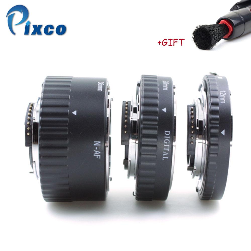 ADPLO pour Nikon métal Auto Focus Macro rallonge Tube Set MK-N-AF1-A 12 + 20 + 36mm