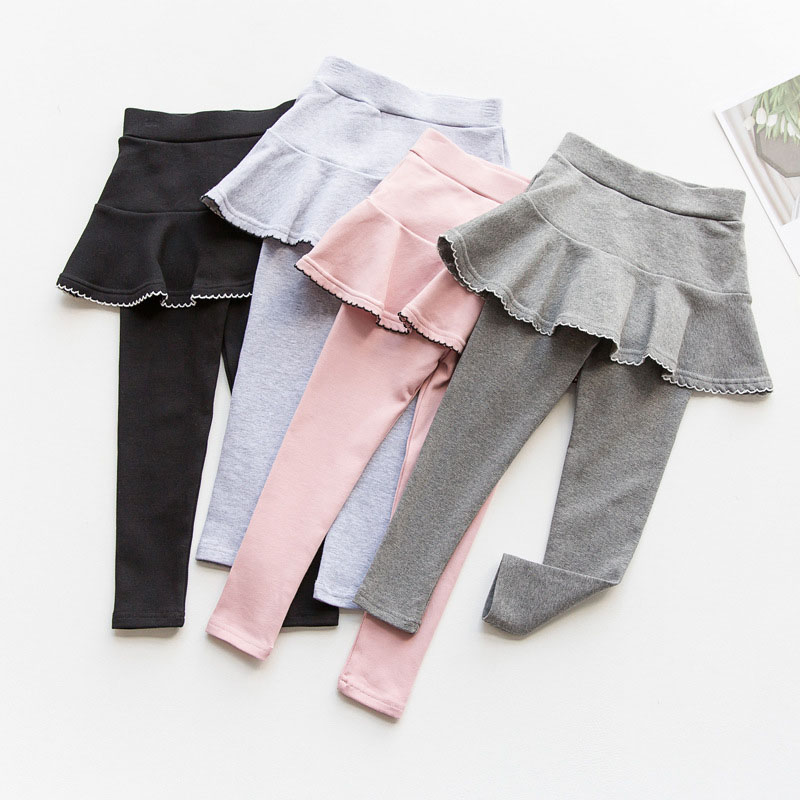 2019 Fall Girl Sprot Legging Skirt-pants Cake Skirt Baby Girl Fall Leggings Children's Girls Skirt Pant for 3-8 Years 3