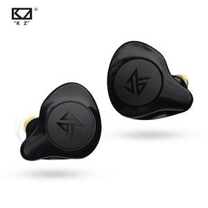 KZ S2 TWS bezprzewodowe sterowanie dotykowe Bluetooth 5.0 AAC wsparcie zestaw słuchawkowy technologia hybrydowa Sport typ Motion słuchawki słuchawki douszne