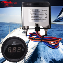 12/24V 52mm 240-33ohms Marine Digital Fuel Level Gauge Boat Oil Tank Level Indicator Empty LED Fuel Gauge fit Car Truck Boat free shipping mj f3 oil tank series need to oem level switch oil level gauge sensor