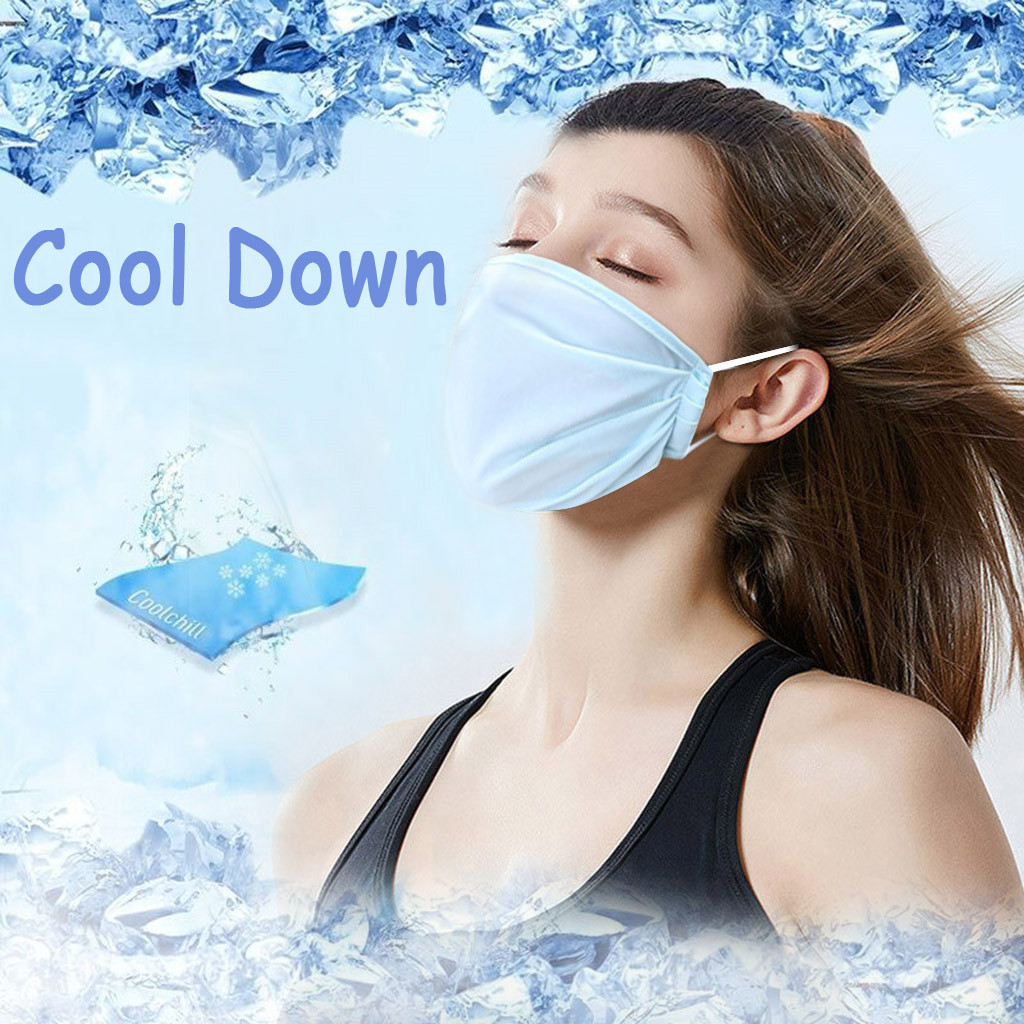 2Pc Washable Earloop Face Maske Ice Silk Cold Cycling Anti Dust Maske Filter Mouth Face Maske Respirator For Summer Cooling
