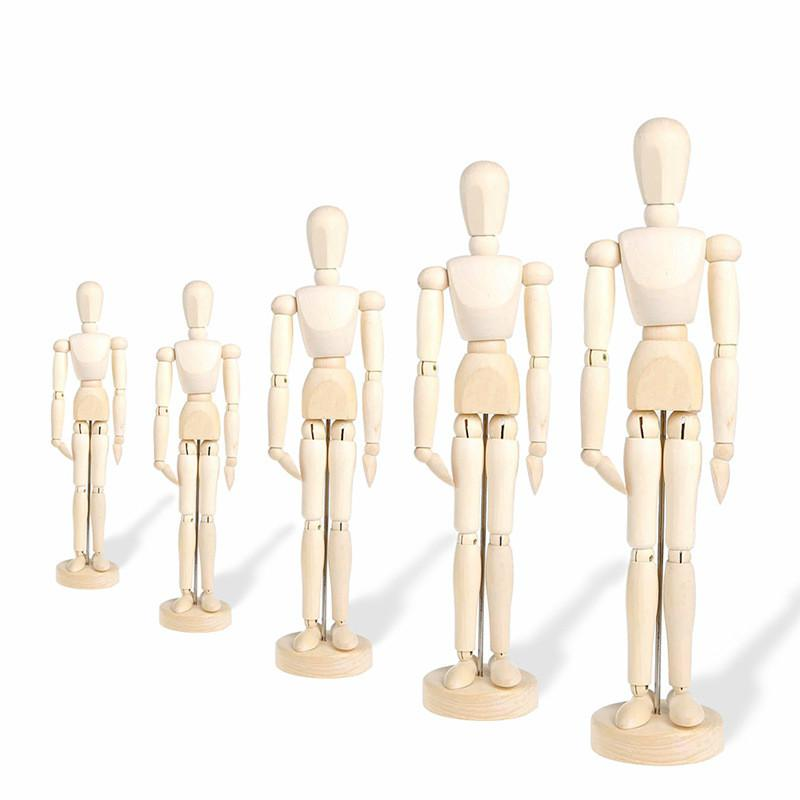 20cm And 32cm  New Artist Movable Limbs Male Wooden Toy Figure Model Mannequin Bjd Art Sketch Draw Action Toy Figures