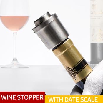 Do wina ze stali nierdzewnej korek do butelki silikonowy korek do wina narzędzie korka otwieracz butelek lada barowa akcesoria do wina wina próżni korek tanie i dobre opinie QITU CN (pochodzenie) Ekologiczne