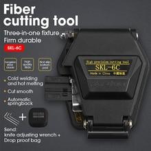 Cuchillo de corte de Cable de fibra SKL 6C, utensilios con cuchillas de fibra óptica FTTT, 16 hojas de superficie