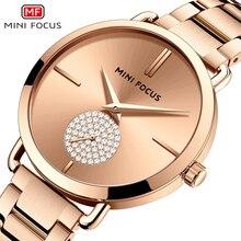 MINI FOCUS Fashion Women Watches Luxury Ultra-thin Quartz Watch Ladies Stainless Steel Waterproof Business Relogio Feminino