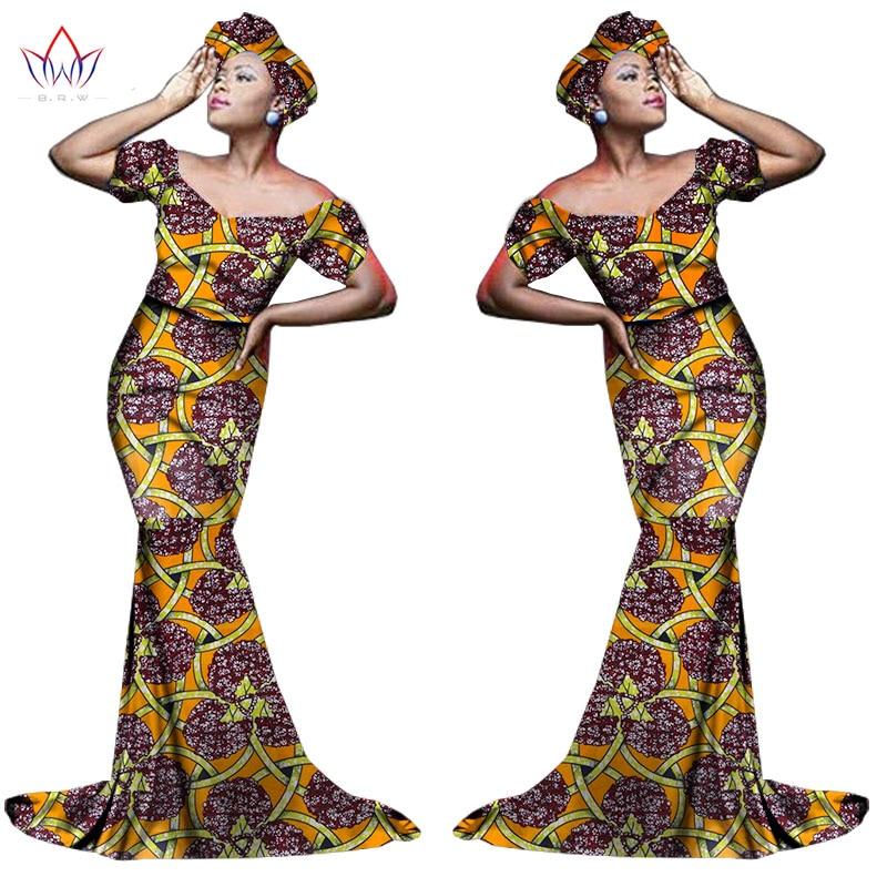 Африканский хлопчатобумажный материал Платья Для Женщин Дашики традиционная Анкара Мода Африка одежда с коротким рукавом Анкара платья WY963 - Цвет: 7