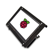 Raspberry pi  7-inch Touch Screen LCD Display  and high quality Acrylic black and white Screen Case free driver 7 inch 1024 600 display touch screen with 720p camera for raspberry pi windows pc beaglebone black plug and play