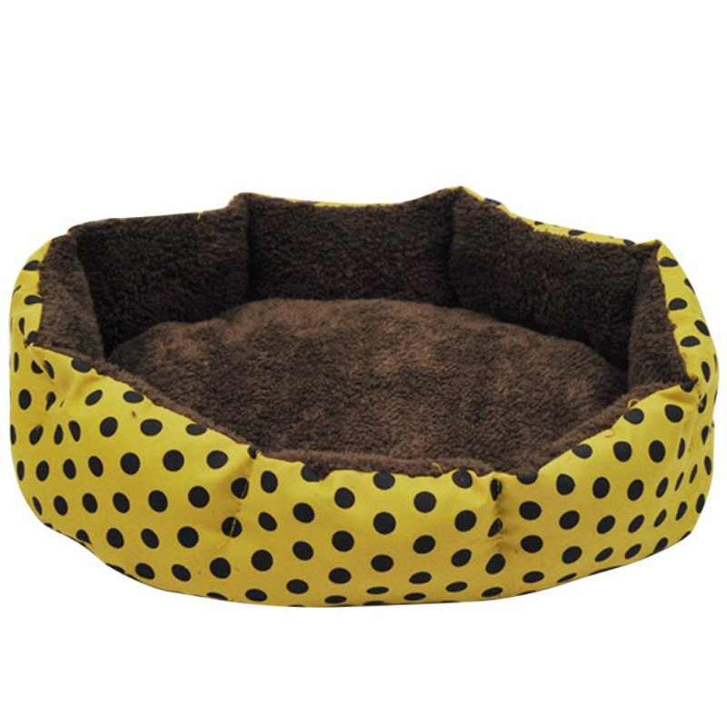 PCat Nest Colorful Leopard Print Cat and Dog Bed Pink Blue Yellowish brown, Deep pink SIZE S M L XL Puppy House New CM