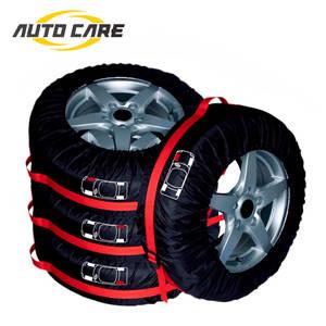 4Pcs Car Spare Tyre Cover Garage Tire Case Auto Vehicle Automobile Tire Accessories Summer Winter Protector Tire Storage Bag