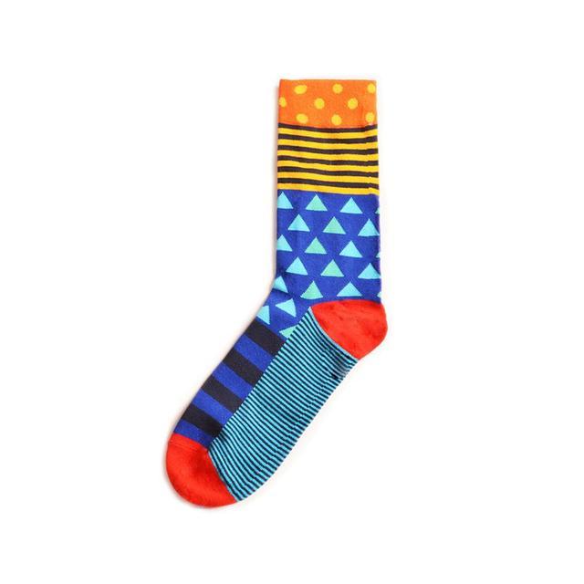 Colorful Sushi Mushroom Pattern Novelty Crew Socks Men's Funny Food Kawaii Sokken Creative Casual Cotton Party Socks For Male 5