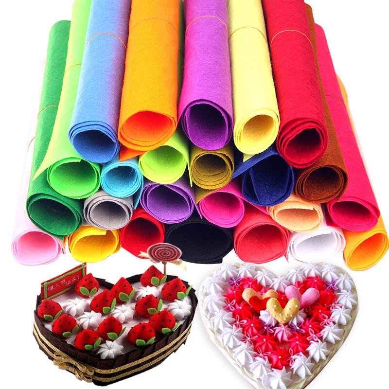 50*40CM Non-woven Felt Fabric DIY Handmade Material Sewing Crafts Accessories For Kids Kindergarten Necessities 21 Colors