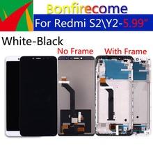 """5.99 """"Orijinal Ekran Xiaomi Redmi Için S2 LCD dokunmatik ekran digitizer Çerçeve Değiştirme Ile Redmi Için Y2 LCD ekran Meclisi"""