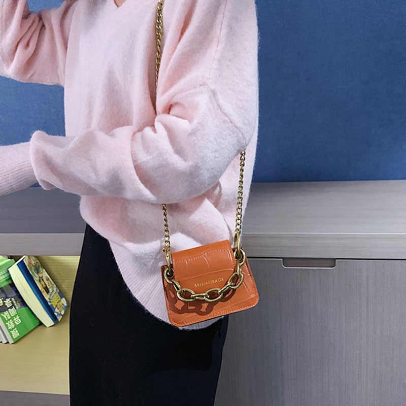 ผู้หญิงแฟชั่นกระเป๋าถือง่ายร้อนกระชับทั้งหมดตรงกับกระเป๋าไหล่ MINI Croc พิมพ์ Crossbody กระเป๋า 2020 ใหม่