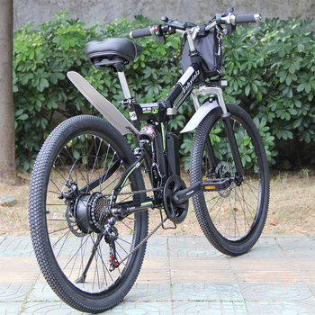 """Wholesale 26"""" Foldable Bicycle 350W/500W Electric Bike 21 Speed With Removable Powerful Battery 10Ah/13Ah 2"""
