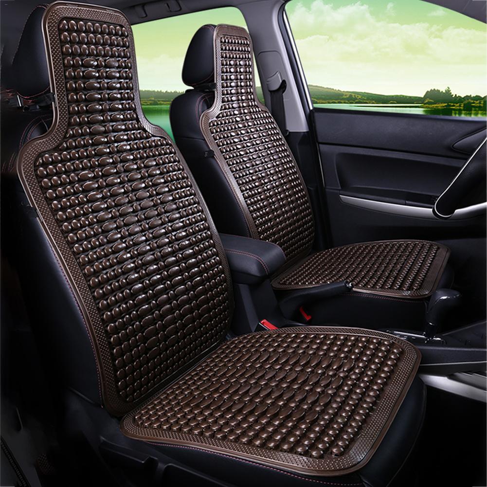 Assento de carro universal em pvc, almofada frisada para cadeira automotiva, capa de cadeira em pvc, macia, respirável, 1 peça