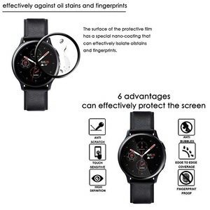 Image 5 - 100PCS 3D Soft Screen Protector for Samsung Galaxy Watch Active 2 40mm 44mm Full Cover Protective Film (No Tempered Glass)