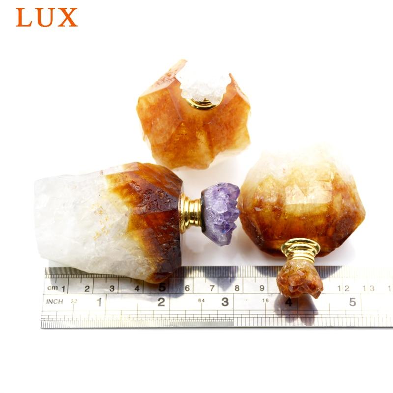 Gemmes naturelles pierre parfum huiles essentielles bouteille brute citrines diffuseur coiffeuse ameublement article chambre parfum décoration - 3
