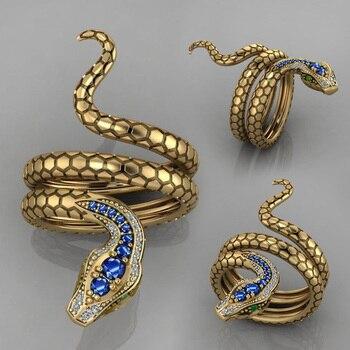Bague serpent plaqué or